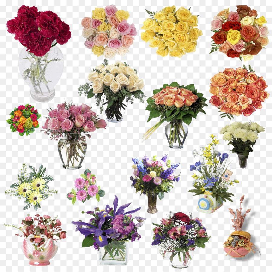 Floral design Flower bouquet Rose - Beautiful Bouquet png download ...