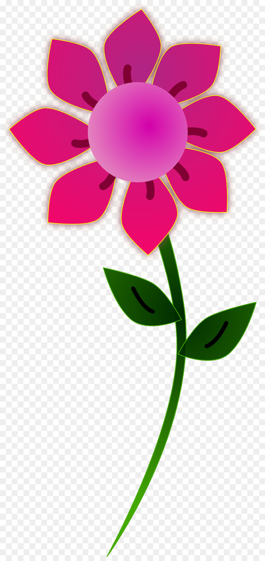 Pink Flowers Clip Art Pink Flower Clipart Png Download 9992095