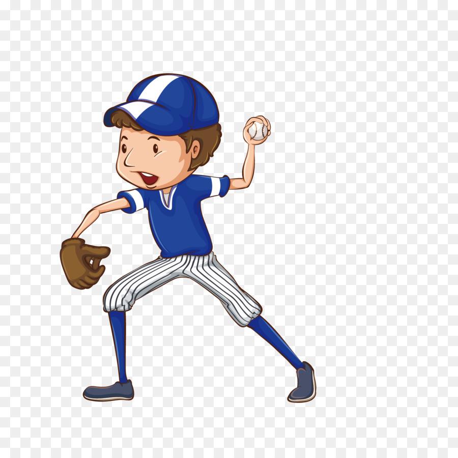 Baseball pitcher player cartoon