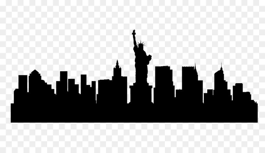 new york city skyline silhouette illustration skyline new york png