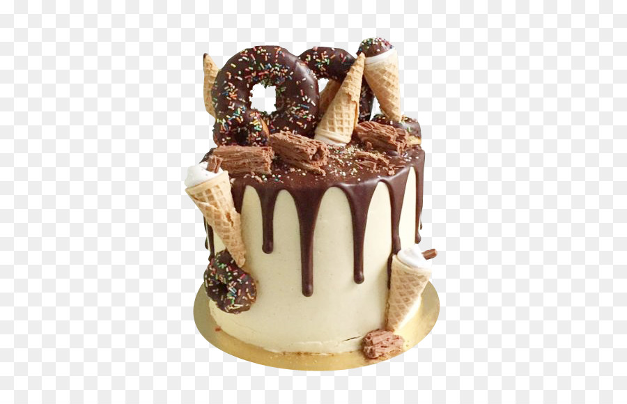 Doughnut Birthday Cake Ganache Chocolate Cake Dripping Cake