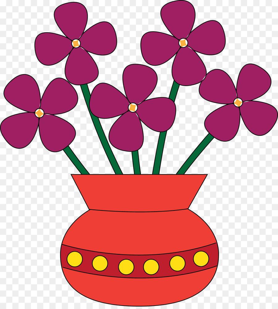 Vase Flower Clip art - Pink Base Cliparts png download - 3408*3758 ...
