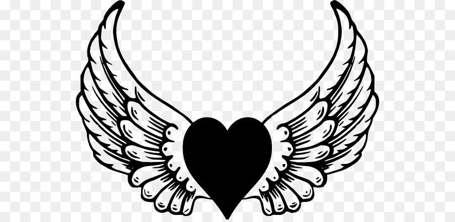 Heart With Wings Clipart Png