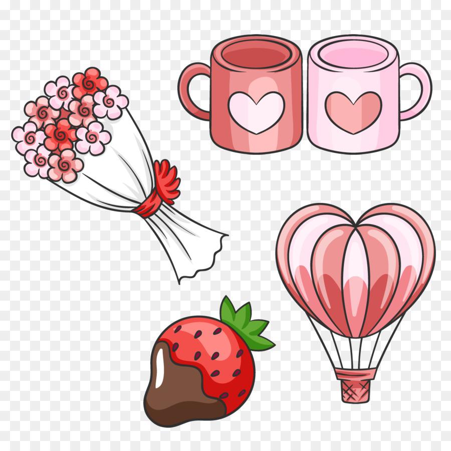 Valentines Day Flower Bouquet Vector Love Mug Png Download 1200