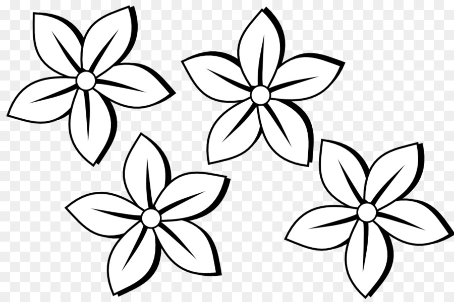 Black and white flower clip art simple flowers png download 999 black and white flower clip art simple flowers mightylinksfo