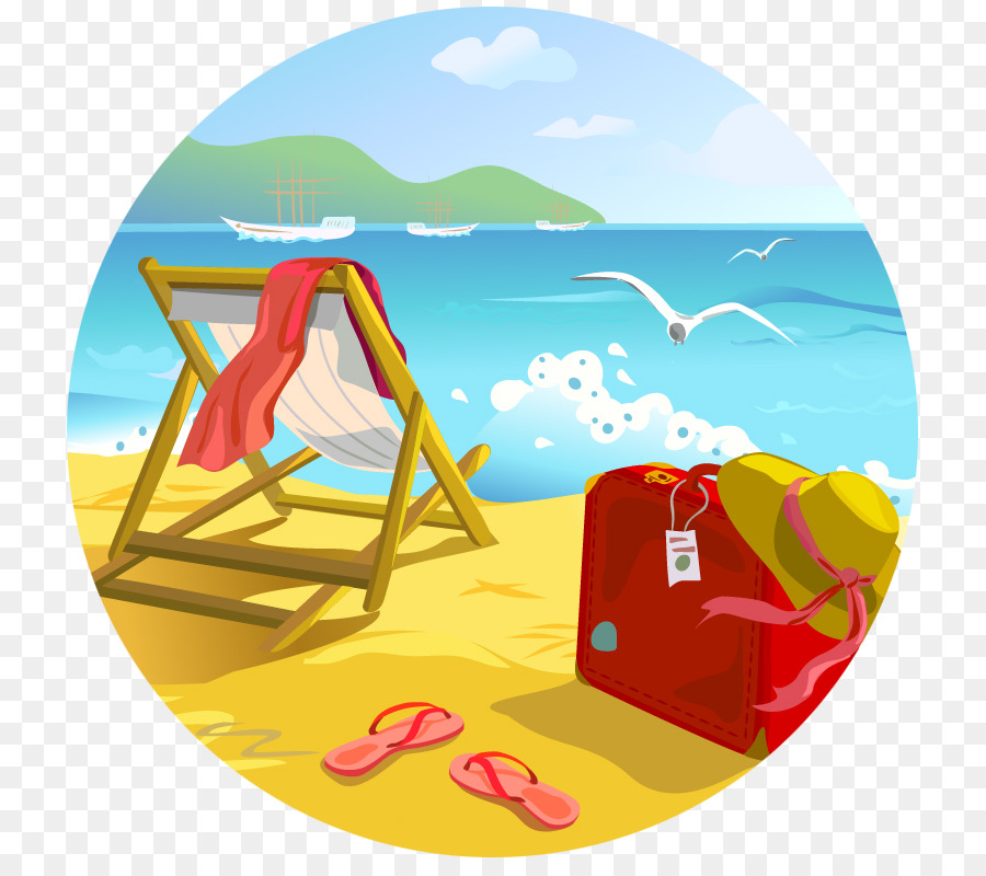 Beach summer. Blue background png download