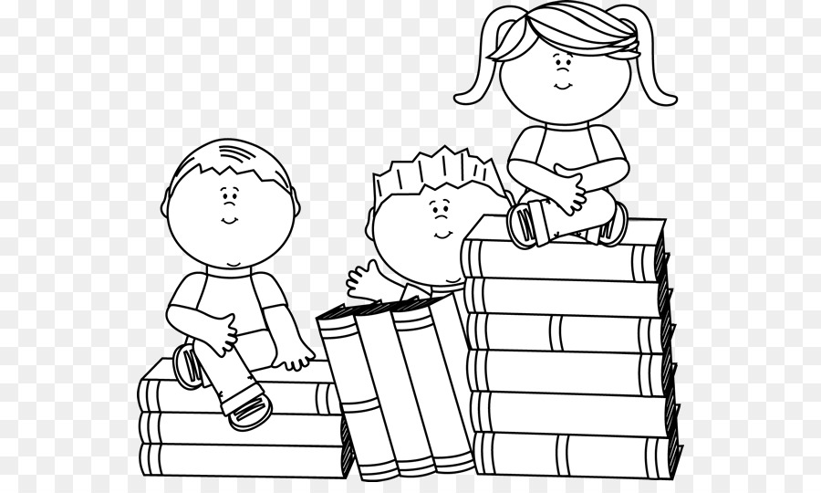 Free Reading Clipart Black And White: Reading Child Black And White Clip Art