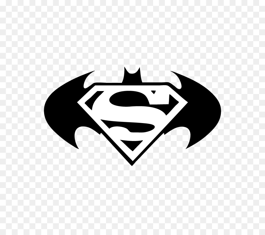 Clark Kent Superman Batman Logo Decal