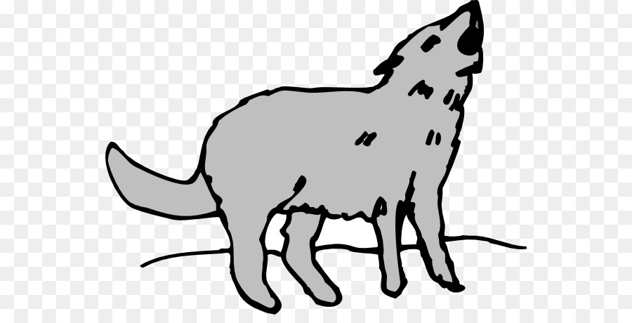 Coyote Gray Wolf Howl Clip Art Coyote Cliparts Png Download 600