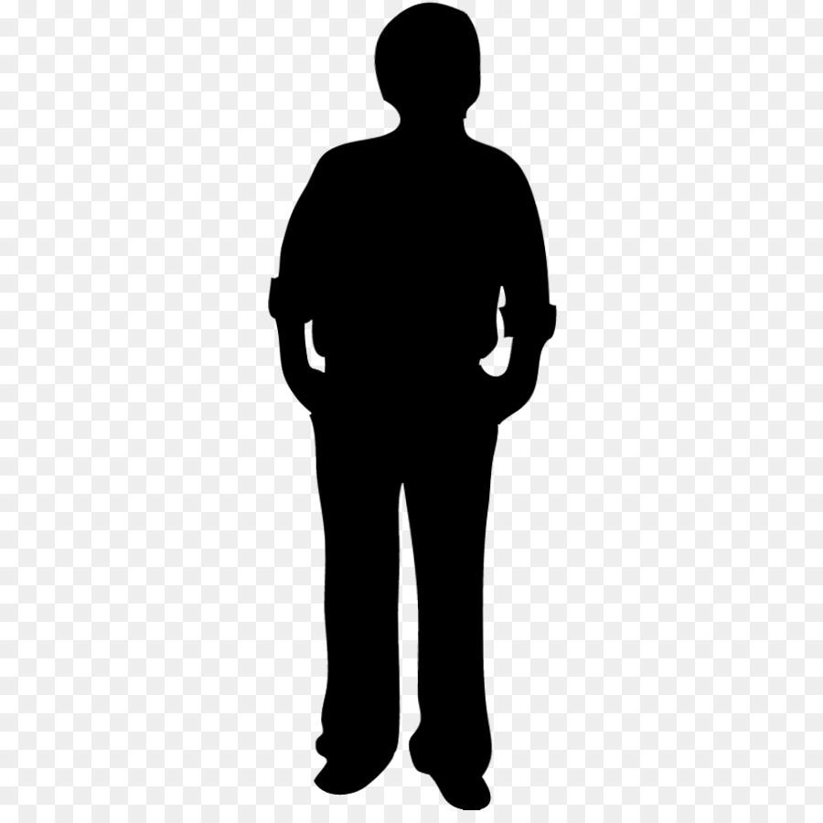 Back of person silhouette clip art