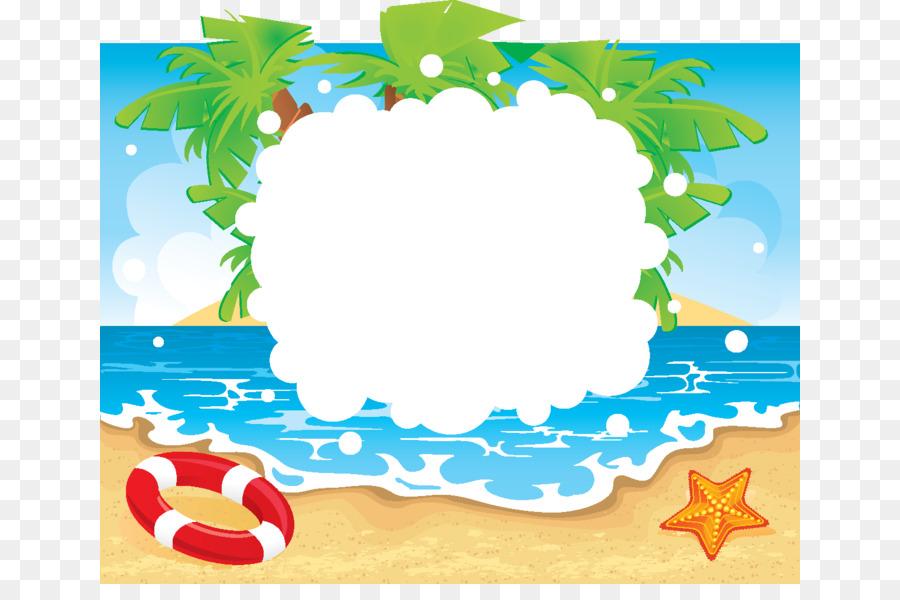 Border summer. Flower background png download