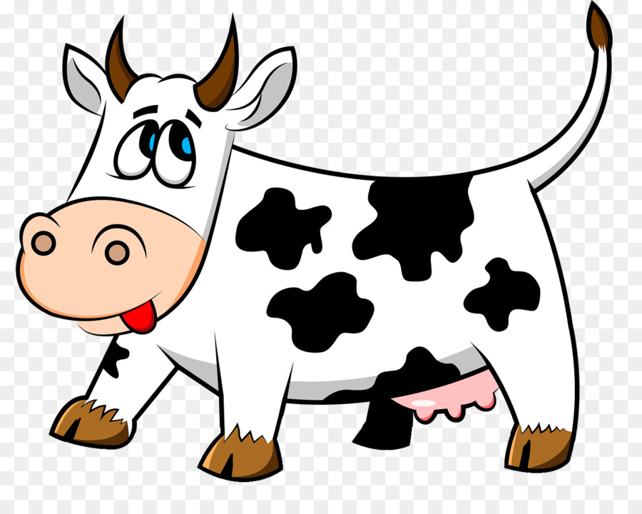 корова рисунок мультяшная