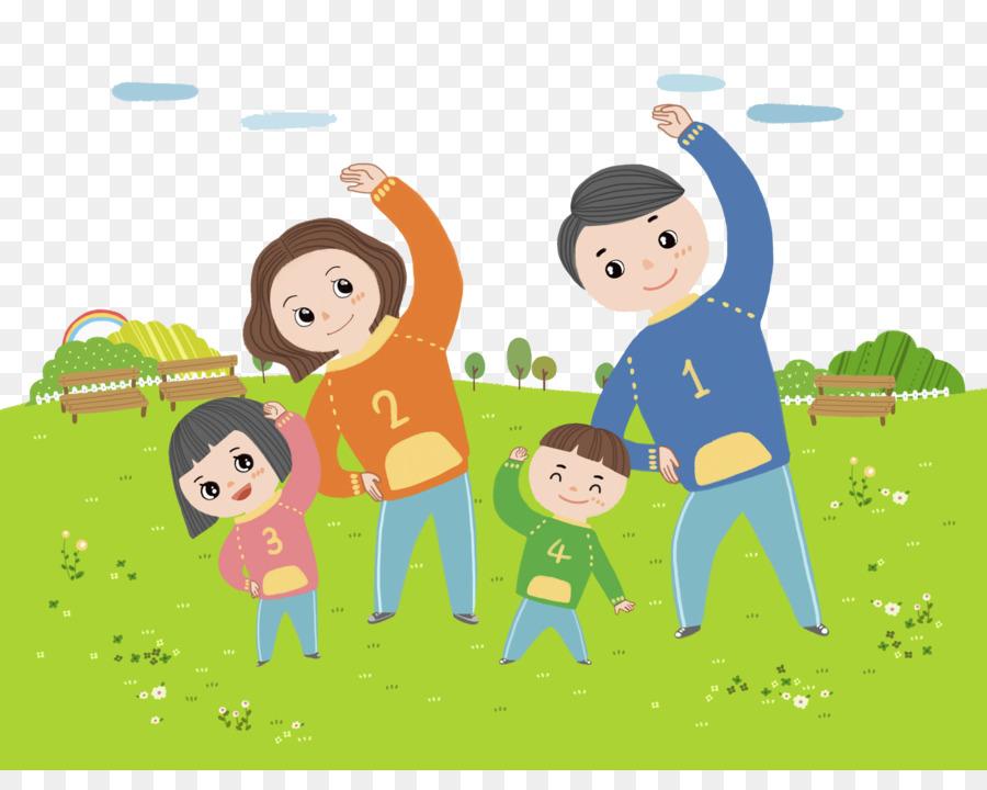 Cartoon Clip Art Family Radio Exercise 21161651 Transprent Png