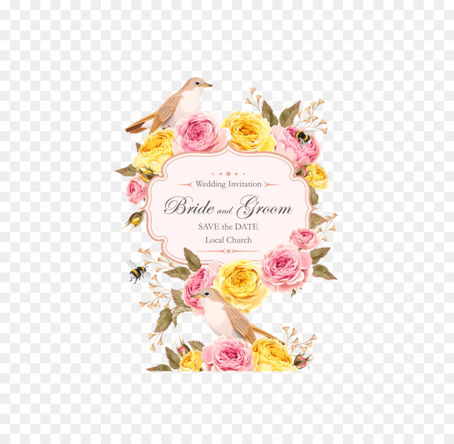 Wedding invitation Flower Clip art - Rose Wedding invitations png ...