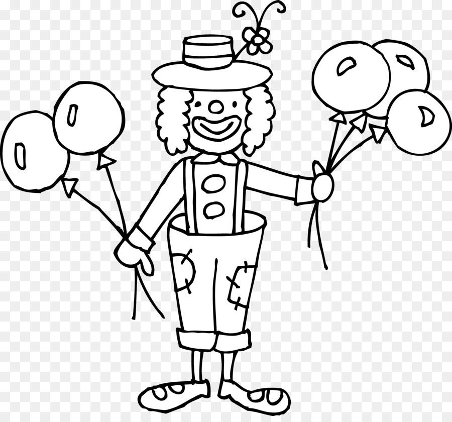 Joker Clown Circus Black And White Clip Art