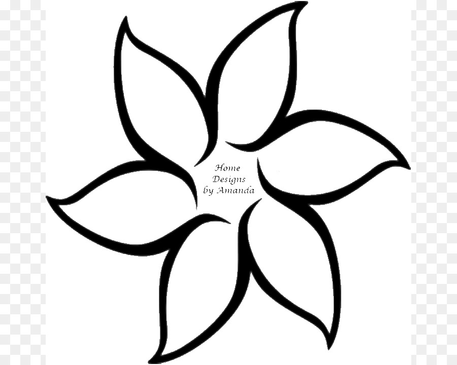 Flower Outline Drawing : Flower outline drawing clip art flowers template png