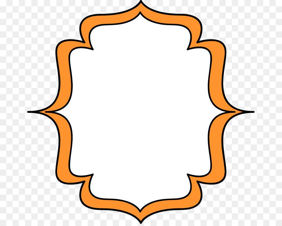 Picture frame Orange Clip art - Whimsical Cliparts Frames png ...