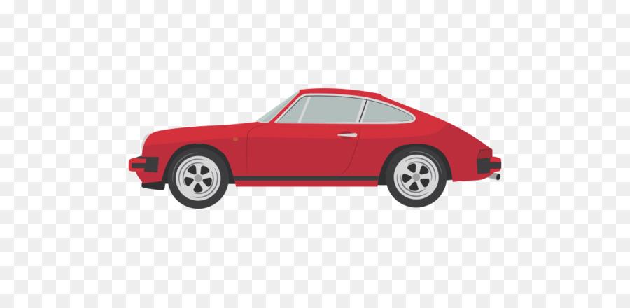 Sports Car Porsche 911 Illustration Vintage Sports Car Cartoon