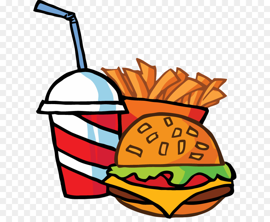 Hamburger Fast Food Restaurant Junk Food Kfc Cartoon