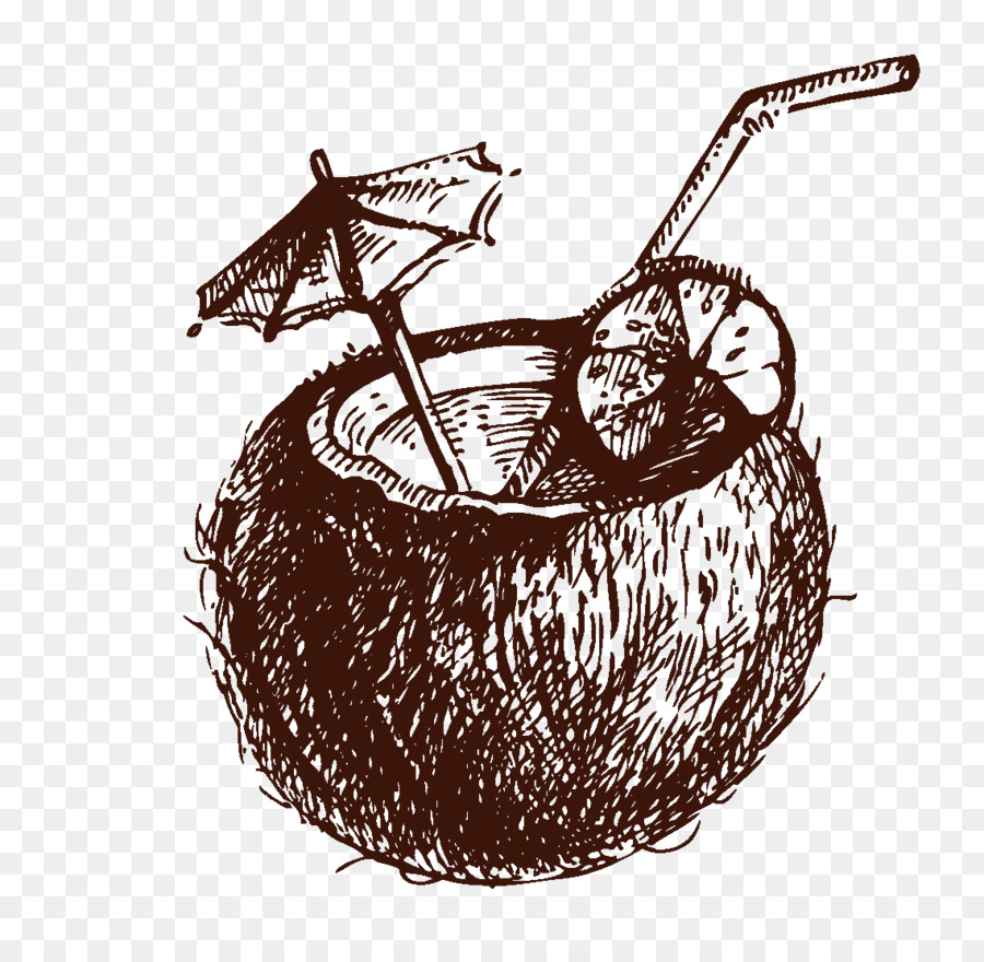 Cocktail Coconut Water Drawing