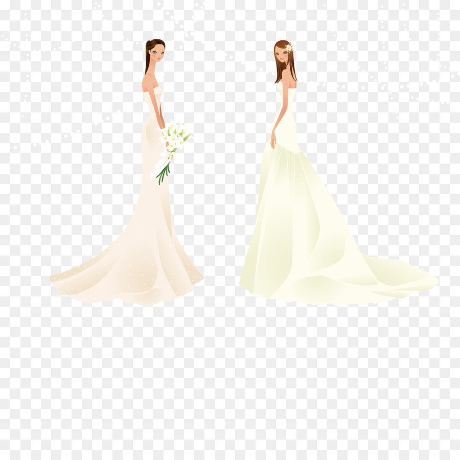 Wedding dress Bride Wallpaper - Two brides png download - 1500*1500 ...