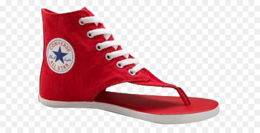a65721e2eb0d24 Sandal Converse High-top Flip-flops Chuck Taylor All-Stars - Red summer  sandals png download - 700 455 - Free Transparent Sandal png Download.