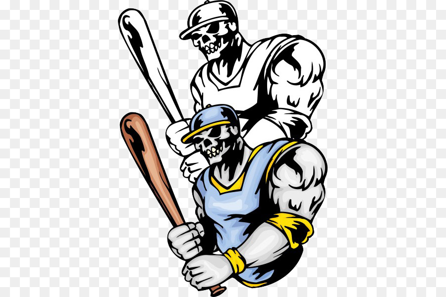Baseball bat Illustration - Holding a baseball bat skeleton ...