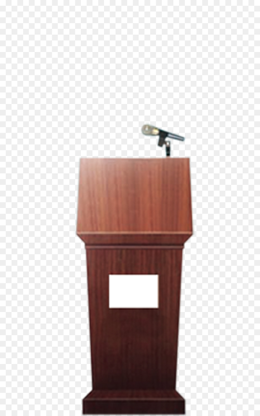 Table Podium Cherry Wood Dark Cherry Wood Podium Png