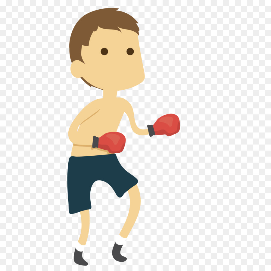 Cartoon boxer, cartoon vector, boxing match, fighting game png and.