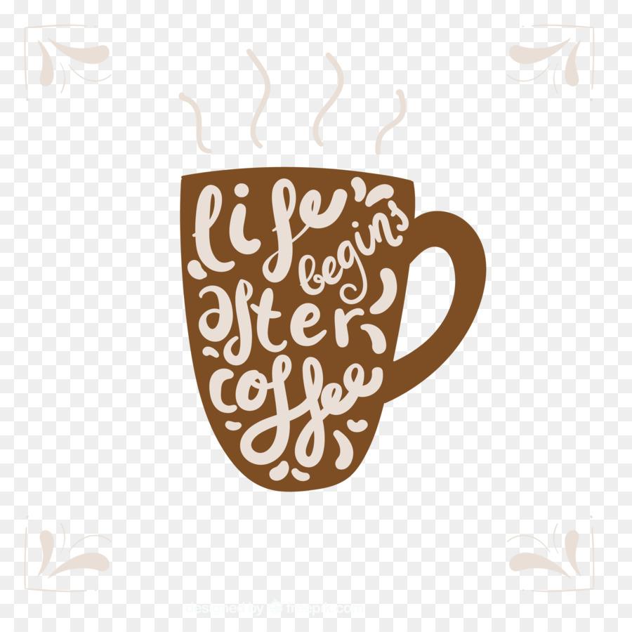 kaffee-tasse, t-shirt decal mug - kreative buchstaben-becher png