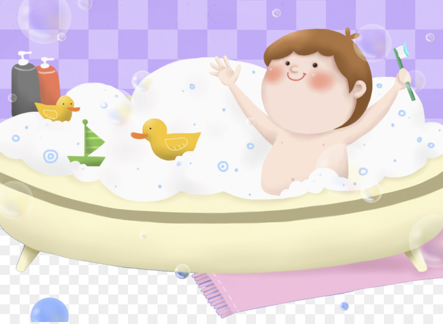 Torte Bathing - Baby in the bathtub png download - 2190*1596 - Free ...
