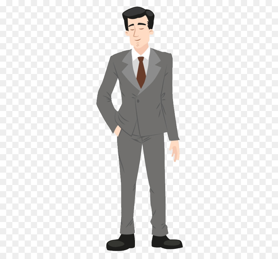 suit cartoon formal wear illustration