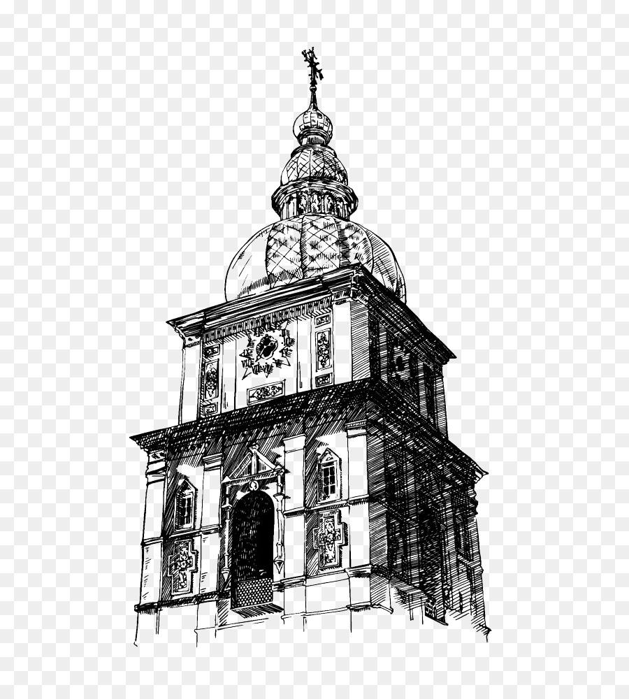 Kiev Drawing Church Illustration