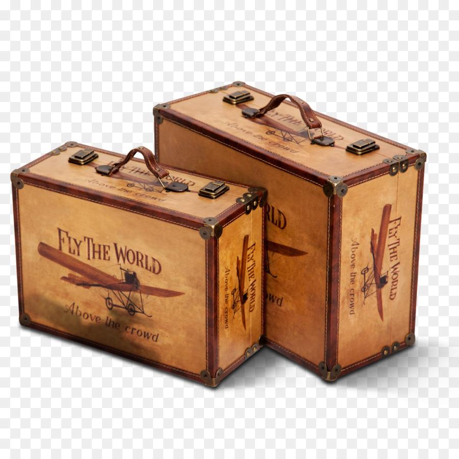 Excellent Travel Suitcase Baggage - Vintage wooden box png download - 1000  LN48