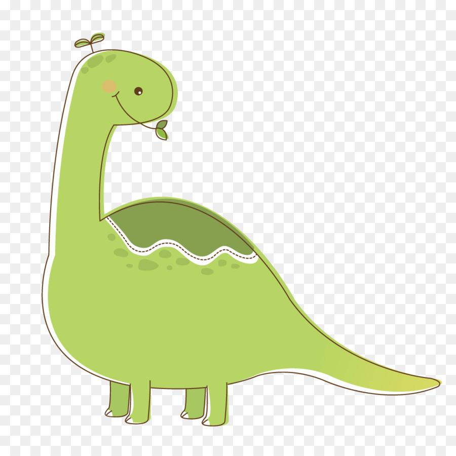 Dinosaurio De Color Verde De Dibujos Animados - Dinosaurio de color ...
