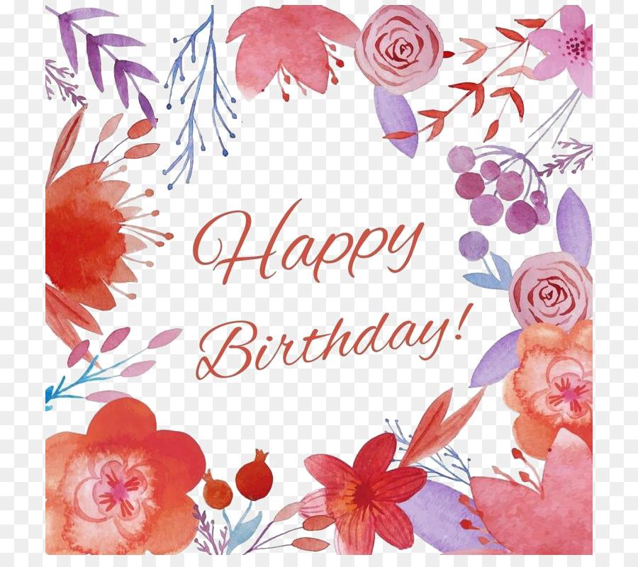 Doğum Günü Boyama Tebrik Kartı Doğum Günün Kutlu Olsun Png Indir