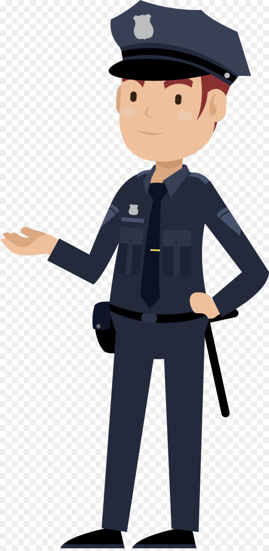 Cartoon Police officer Public security Crime - Cartoon ...