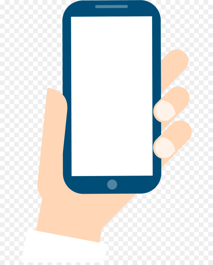 Smartphone Mobile phone Cartoon - Hand phone png download ...