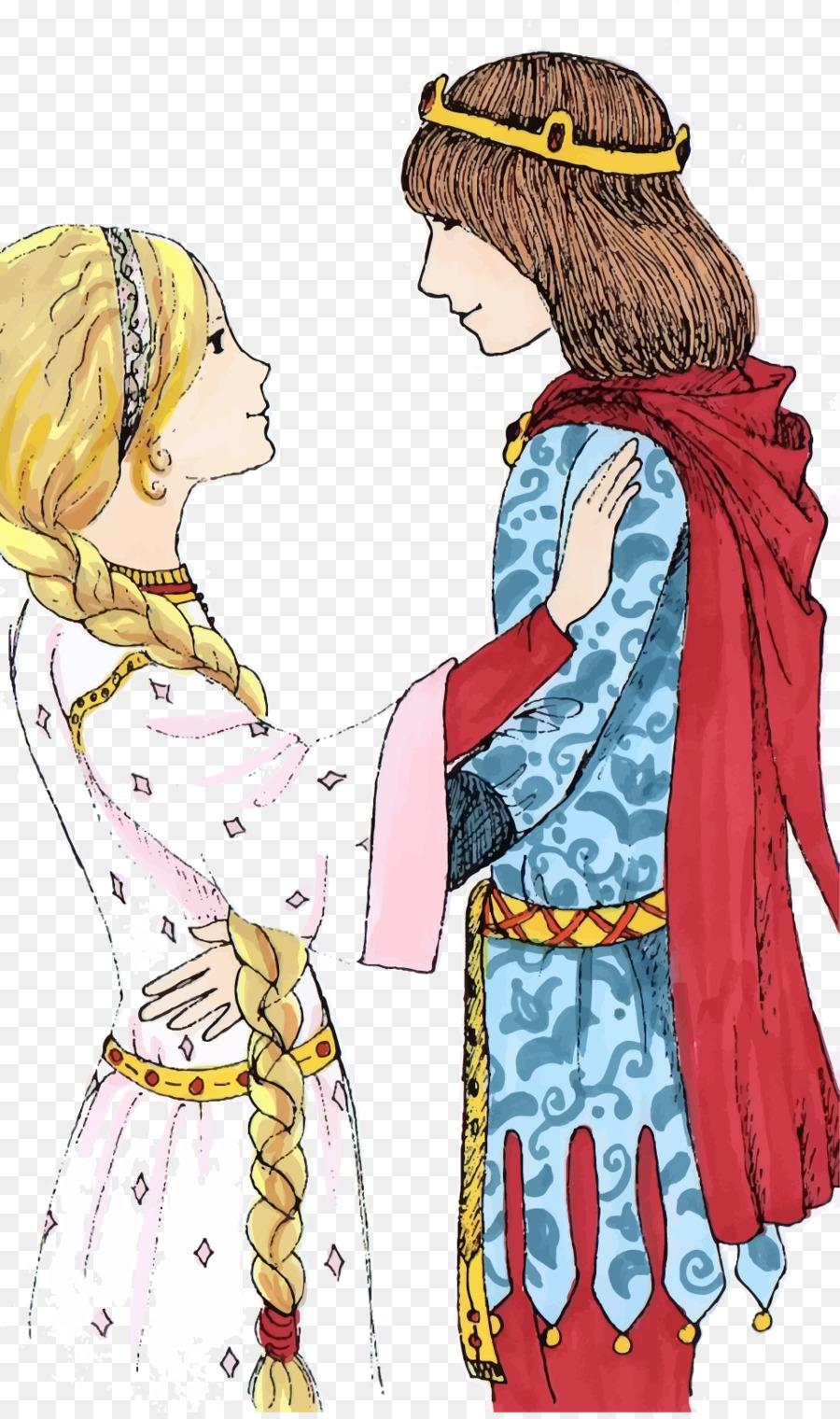 El Príncipe Rana De La Princesa Rapunzel - Vector Príncipe y la ...