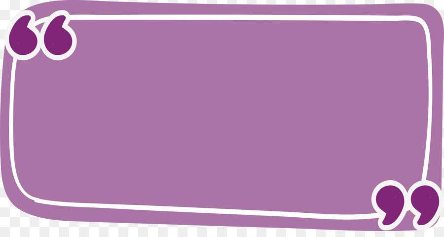 Rectangle Quotation Purple