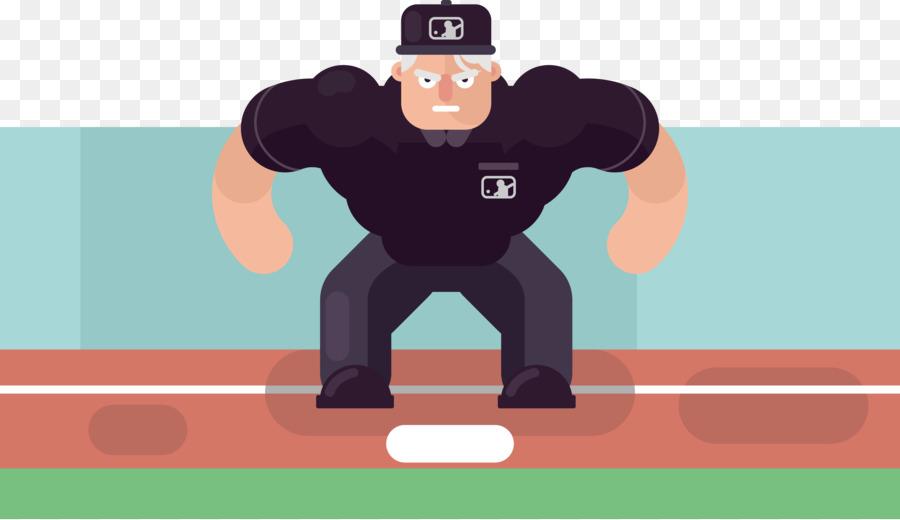 Ball Spiel Schulter Baseball Umpire Illustration Baseball Torwart