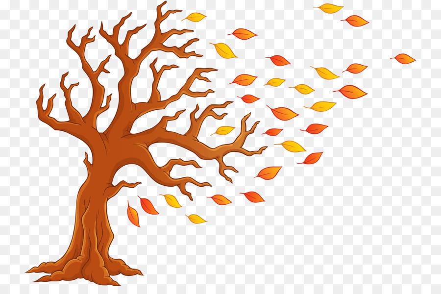 Otoño Árbol de dibujos animados Clip art - Hojas de otoño png dibujo ...