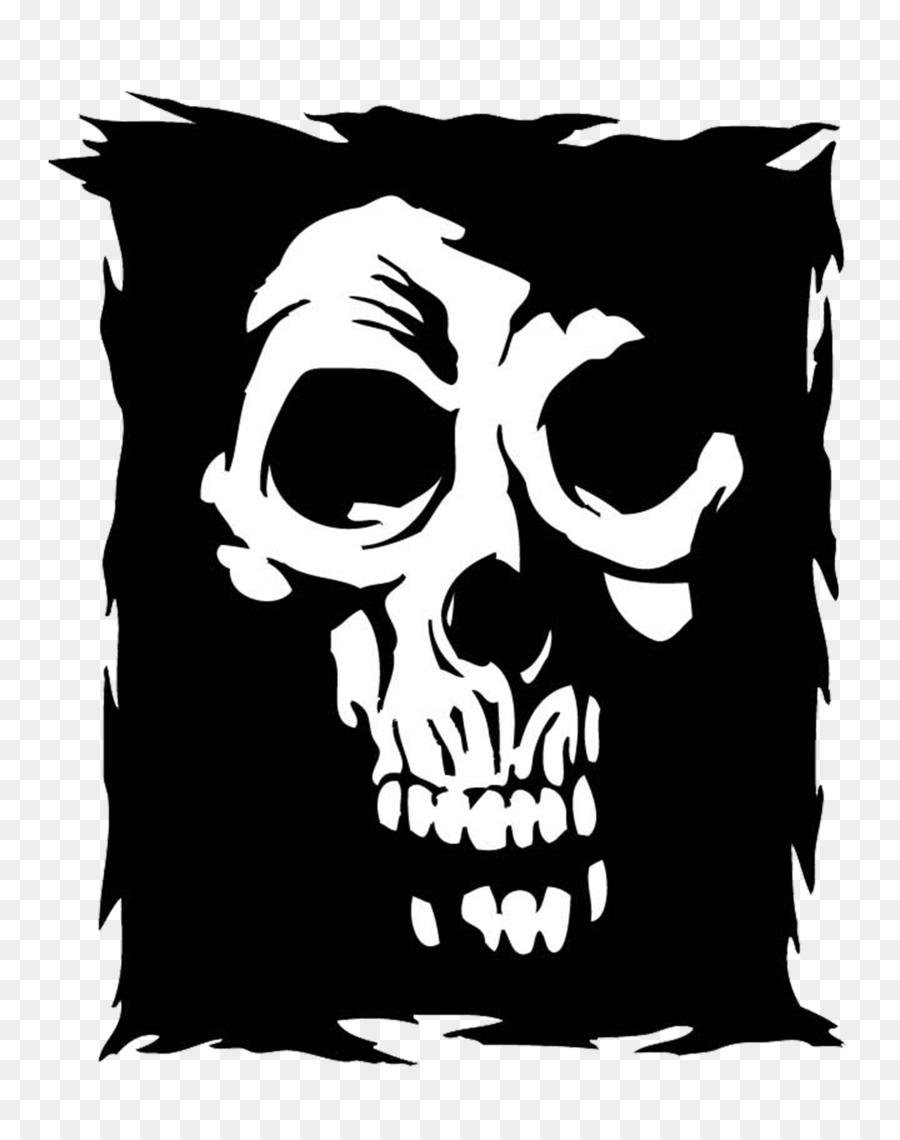 Cráneo u9ab7u9ac5 Logotipo - Blanco cráneo marco negro Formatos De ...