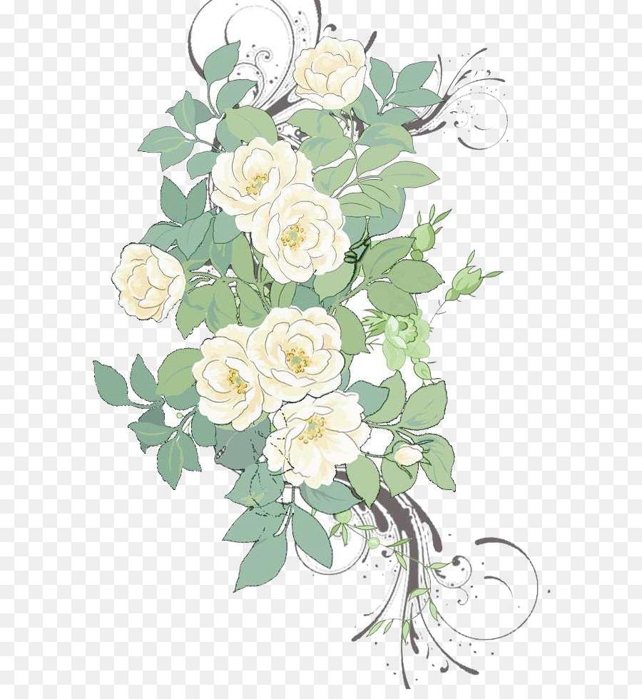 Flower painting pattern white rose flowers background material png flower painting pattern white rose flowers background material mightylinksfo