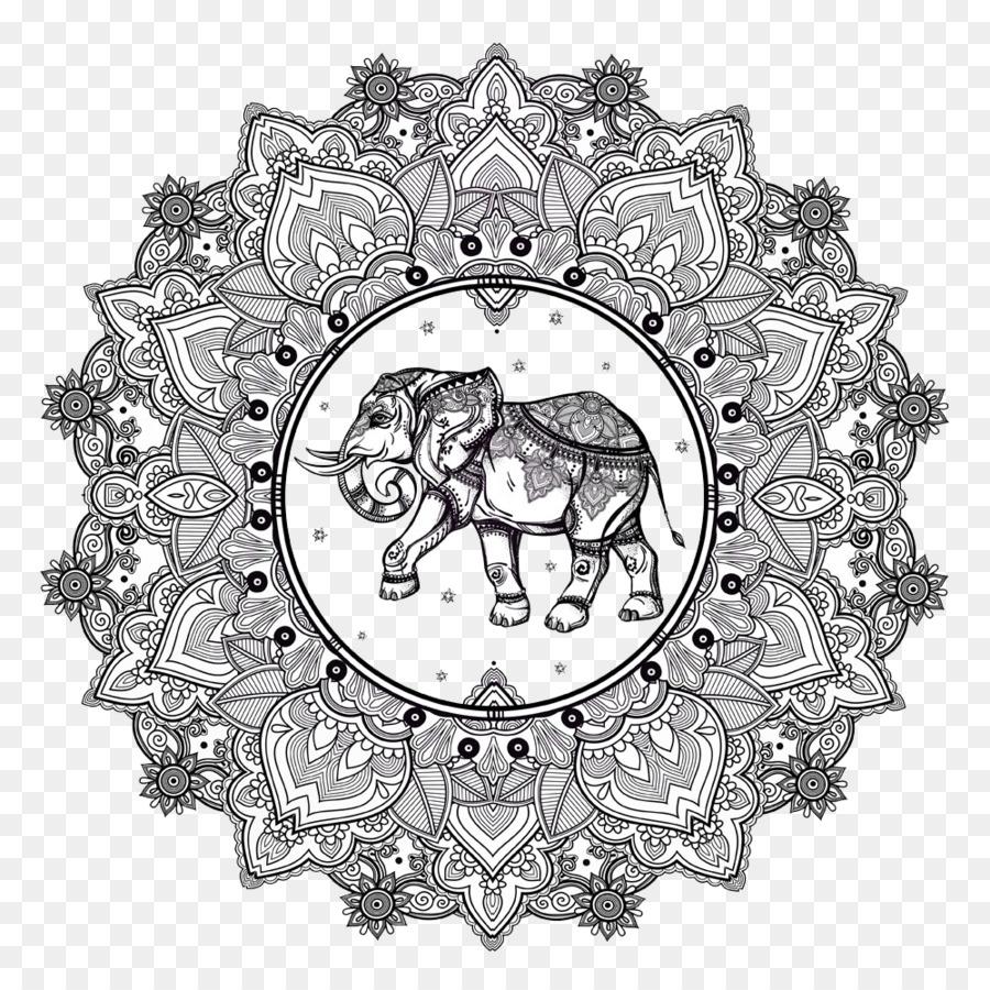 Mandala Mewarnai Buku Agama Buddha Dan Hindu Pola Pola Tradisional
