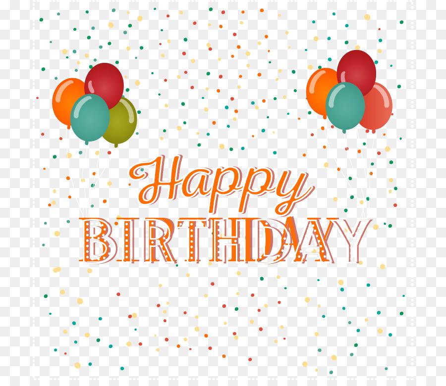 Birthday Cake Balloon Greeting Card Clip Art