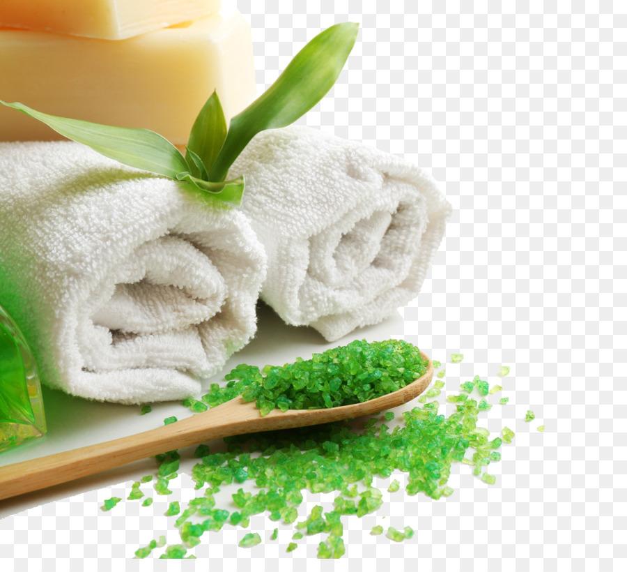 Spa Bath salts Sauna Stone massage - Green Health png download ...