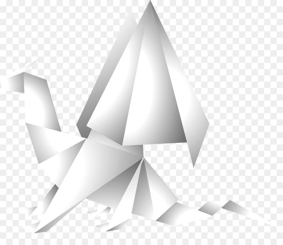 Paper Dinosaur Origami Triceratops Origami Dinosaur Png Download