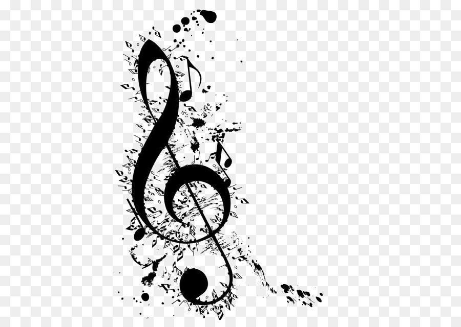 Clave De Sol Musical Note G Clef Ink Notes Png Download