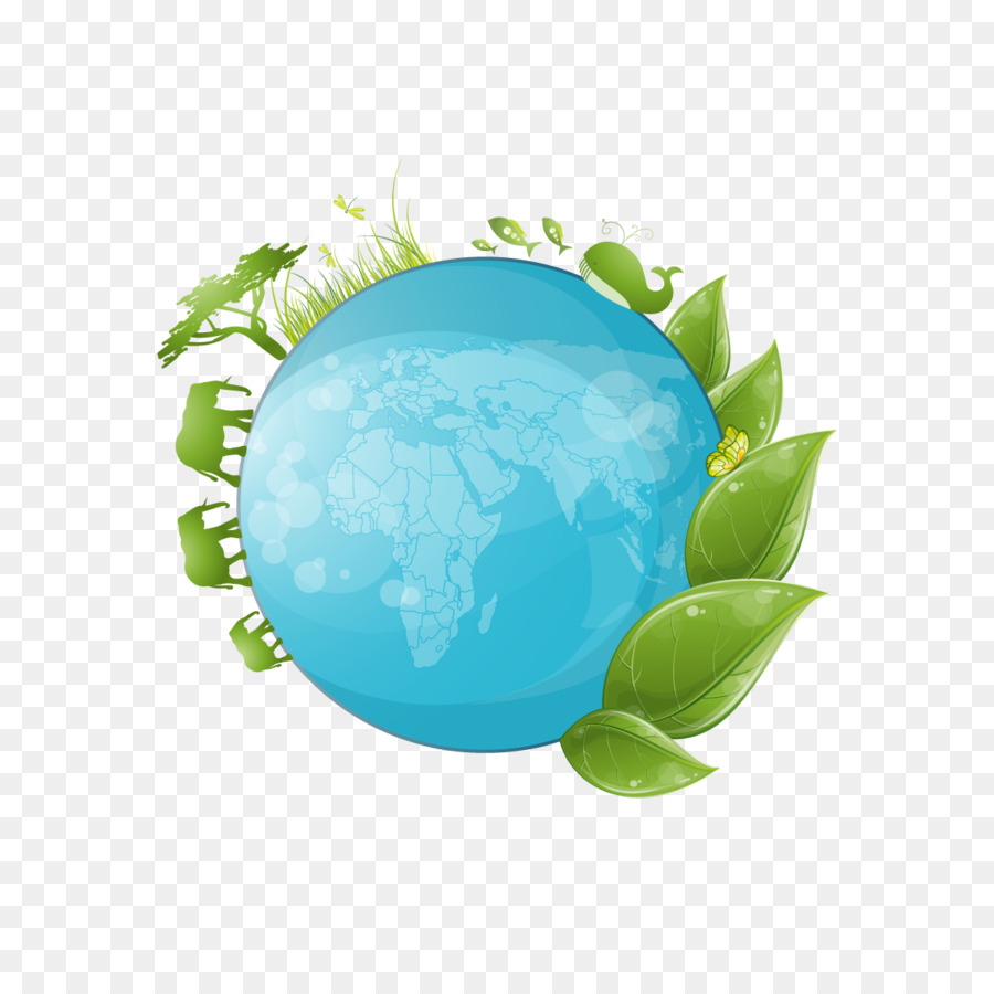 Globe Drawing Ecology Illustration Vector Green Earth Png Download